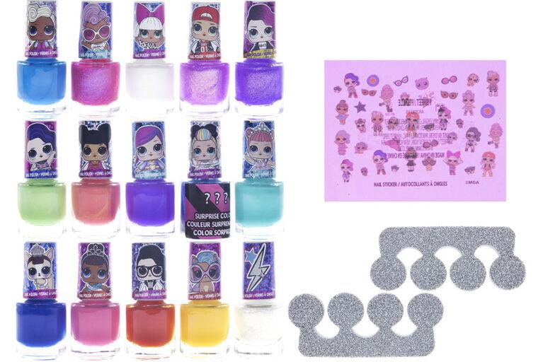 L.O.L. 15 Piece Nail Polish With Stickers