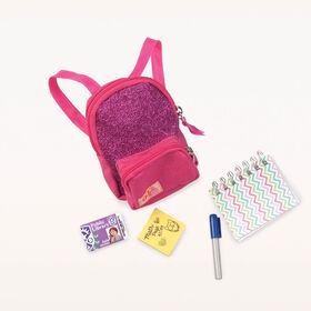 School Smarts, Our Generation, Sac d'école avec accessoires pour poupées de 18po