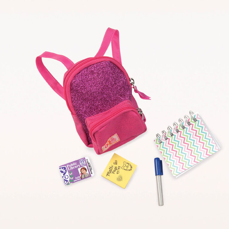 Our Generation, School Smarts, School Bag with Accessories for 18-inch Dolls
