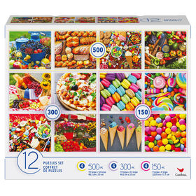 Family 12-Pack of Jigsaw Puzzles, Food