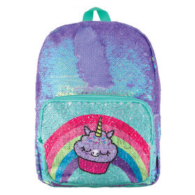 Magic Sequin Backpack-Periwinkle Pocket Reveal