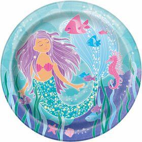 "Mermaid  9""  Plates, 8 pieces"