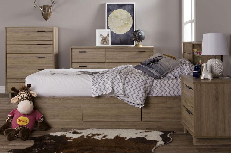 Fynn 5-Drawer Chest Dresser- Rustic Oak