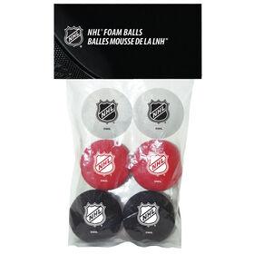 NHL 6 Foam Balls Pack
