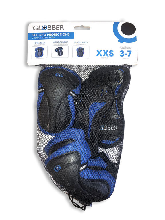 Globber Set de 3 Protections Junior - Bleu XXS