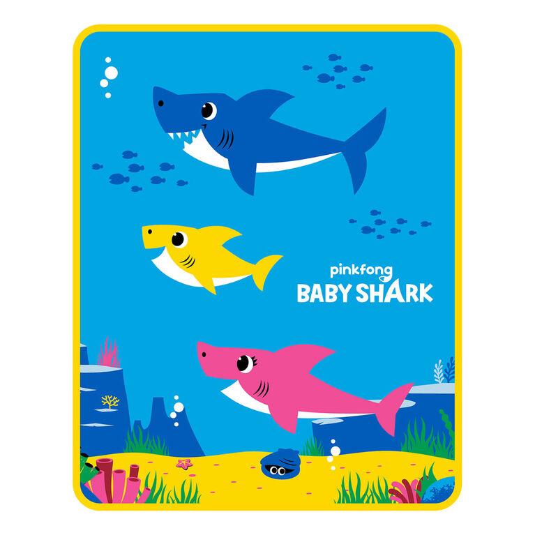 """Jeté doux et soyeux """" Shark Party """" Baby Shark"""