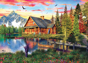Eurographics Fishing Cabin 1000 Piece Puzzle