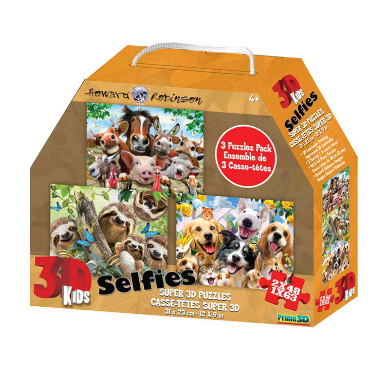Howard Robinson - Animal Selfies 48-63 pieces - 3D Puzzles