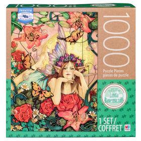 Artiste : Linda Ravenscroft - Puzzle de 1000 pièces - La fée aux fleurs