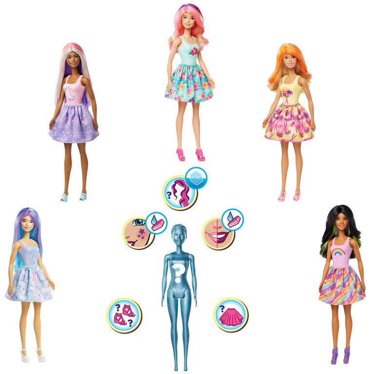 Barbie - Color Reveal - Poupée avec 7 surprises - les motifs peuvent varier