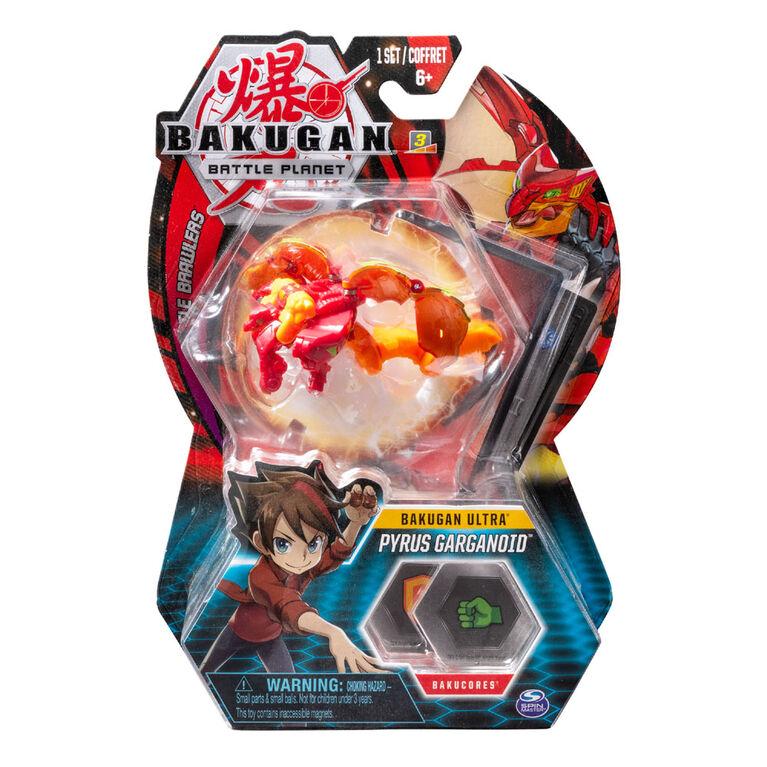 Bakugan Ultra Ball Pack, Pyrus Garganoid, Créature transformable à collectionner de 7,5 cm