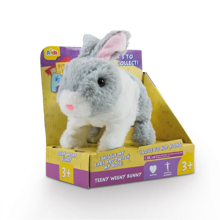 Pitter Patter Pets Teeny Weeny Bunny Grey and White