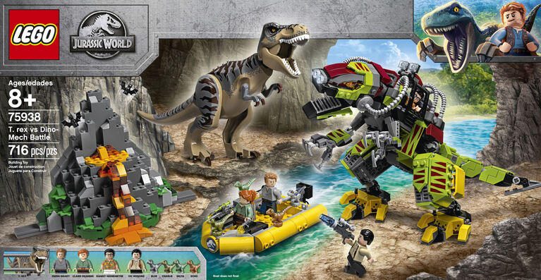 LEGO Jurassic World T rex vs Dino-Mech Battle 75938