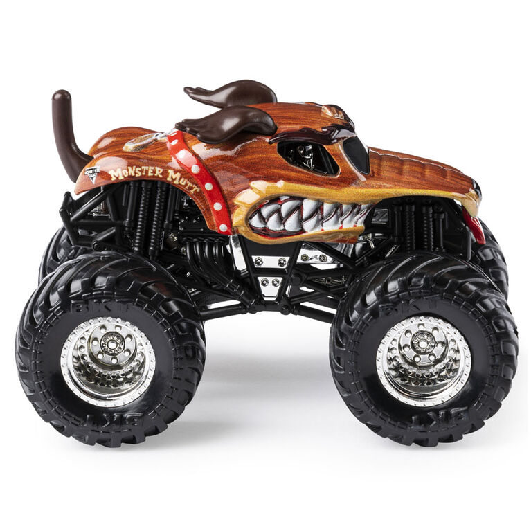 Monster Jam, Official Monster Mutt Monster Truck, Die-Cast Vehicle, Ruff Crowd Series, 1:64 Scale