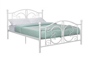 DHP - Bombay Full Metal Bed, White