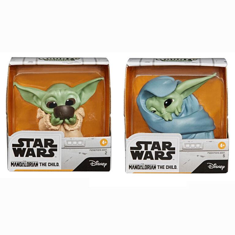 "Star Wars The Bounty Collection The Child de 5,5 cm  "" bébé Yoda "" The Mandalorian, 2 figurines"