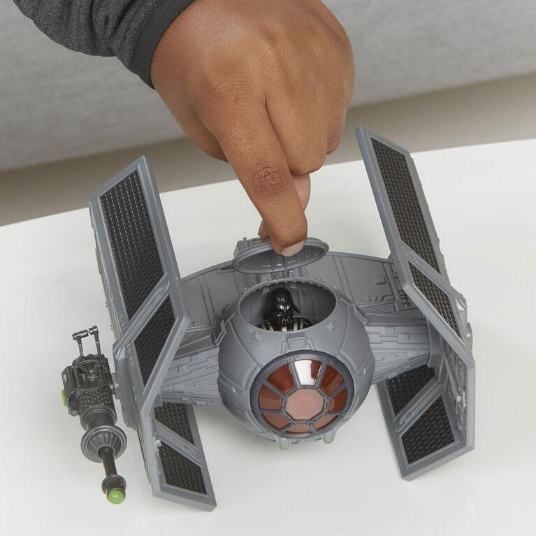 Star Wars Mission Fleet, Darth Vader et chasseur TIE avancé, classe stellaire, figurine de 6 cm avec véhicule