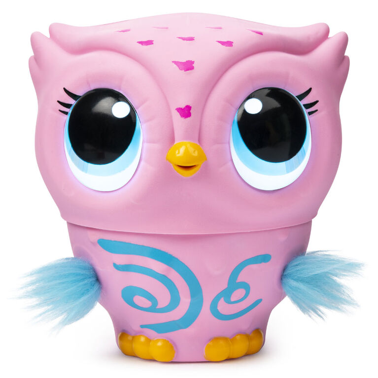 Owleez, Flying Baby Owl Interactive Toy with Lights and Sounds (Pink)