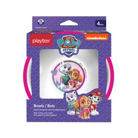 Emballage de 3 bols Paw Patrol de Playtex ? roses