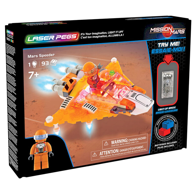 Laser Pegs Mars Speeder
