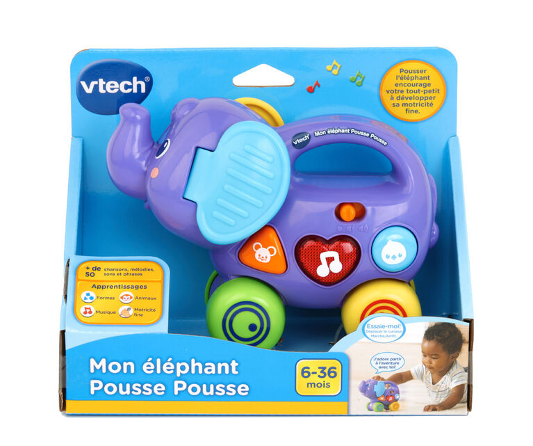 Push and Explore Elephant - French Edition