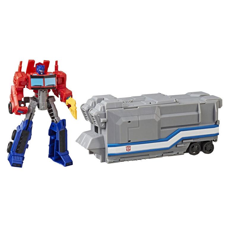 Transformers Cyberverse Warrior Class Optimus Prime Battle Base Trailer - R Exclusive
