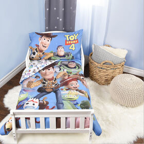 Disney Pixar Toy Story 4 3-Piece Toddler Bedding Set