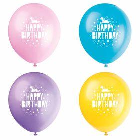 "Unicorn 12"" Latex Balloons, 8 pieces - English Edition"