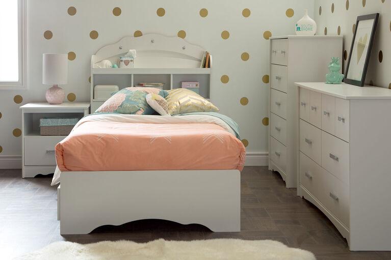 Tiara Table de chevet 1 tiroir- Blanc solide