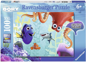 Ravensburger - Disney Pixar - Finding Dory Glow in the Dark Puzzle 100pc
