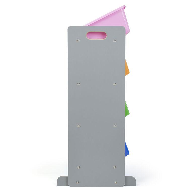 Humble Crew Grey Toy Storage Organizer with 12 Storage Bins