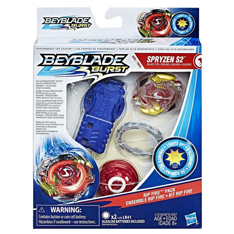 Beyblade Burst Evolution Rip Fire Starter Pack Spryzen S2