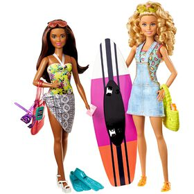 Barbie Pink Passport Beach Doll 2 Pack - R Exclusive