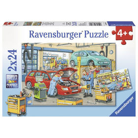 Ravensburger: Repair Shop and Gas Station Puzzle (24pc)