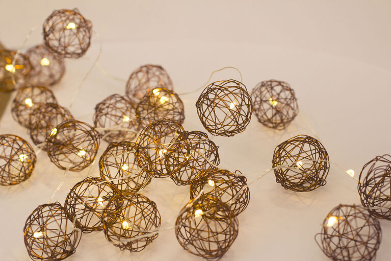 Boutique Home Copper Wired Wrap LED String Lights