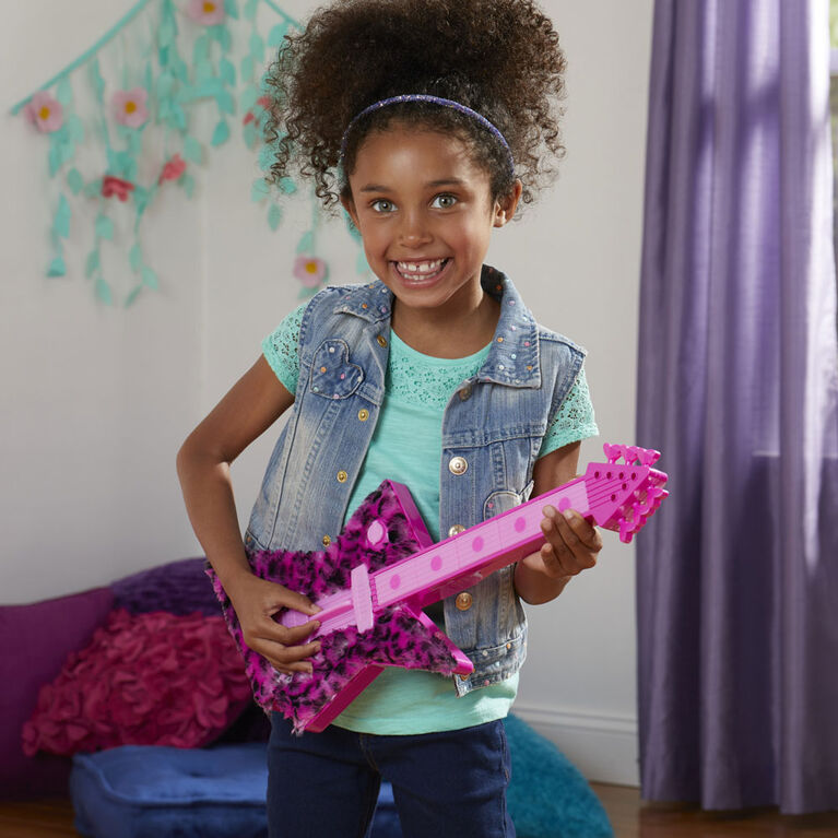 DreamWorks Trolls World Tour Poppy's Rock Guitar, Plays Trolls Just Want to Have Fun Two Ways