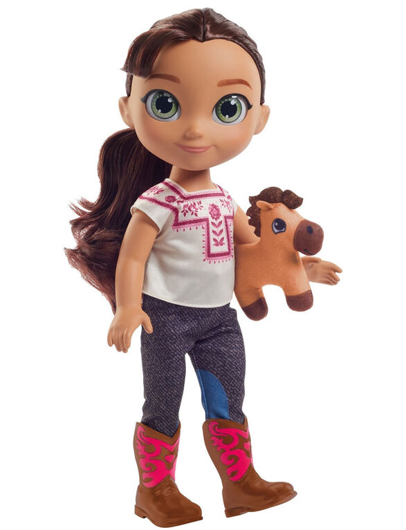 Spirit: l'indomptable - Grande poupée Lucky et sa peluche Spirit