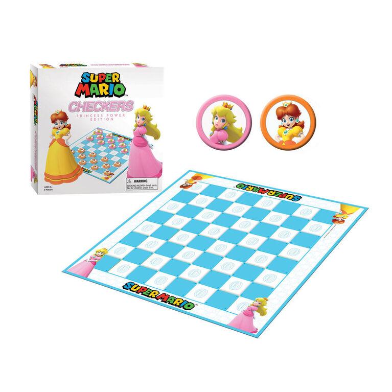 Super Mario Checkers Game Princess Power Edition