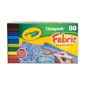 Crayola - 80 Fabric Marker Fine Line Classpack