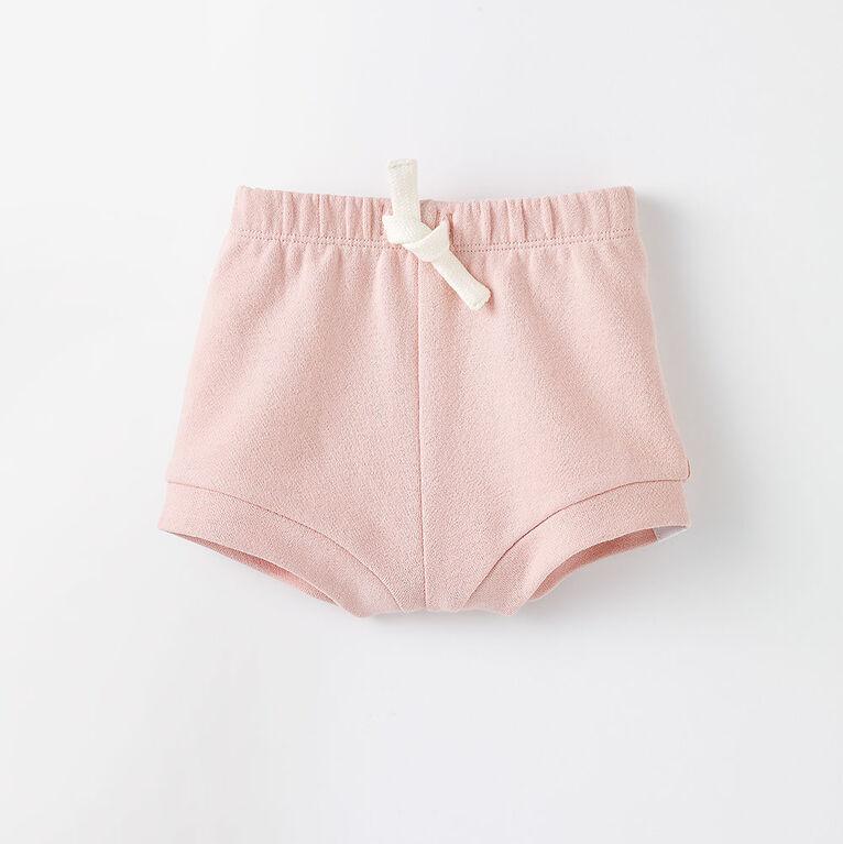 knit baby bloomer, 3-6m - light pink