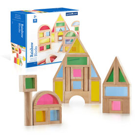 Guidecraft Rainbow Blocks Set 30 Piece Set