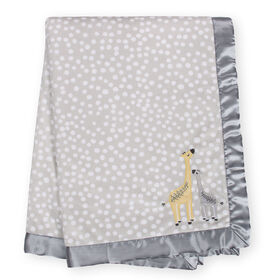 """Just Born Just the Two of Us Collectionâ""""¢ Velboa Blanket - Grey"""
