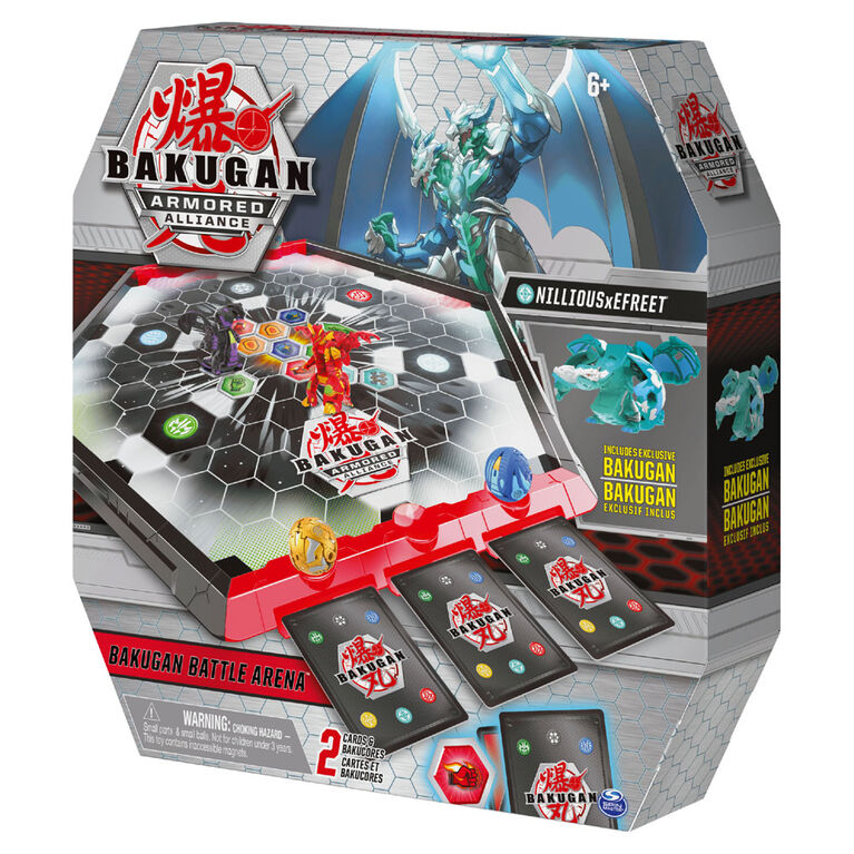 Bakugan Battle Arena, Game Board with Exclusive Fused Nillious x Efreet Bakugan - Styles May Vary