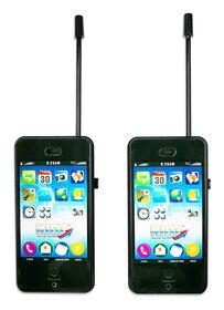 Kidz Black Cell Phone/Walkie Talkie