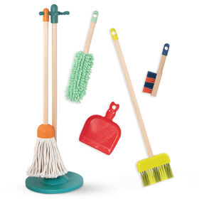 B. Wooden Cleaning Playset