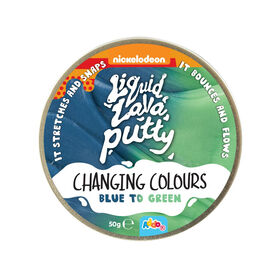 Nickelodeon Liquid Lava Putty Changing Colour Blue to Green - Notre exclusivité