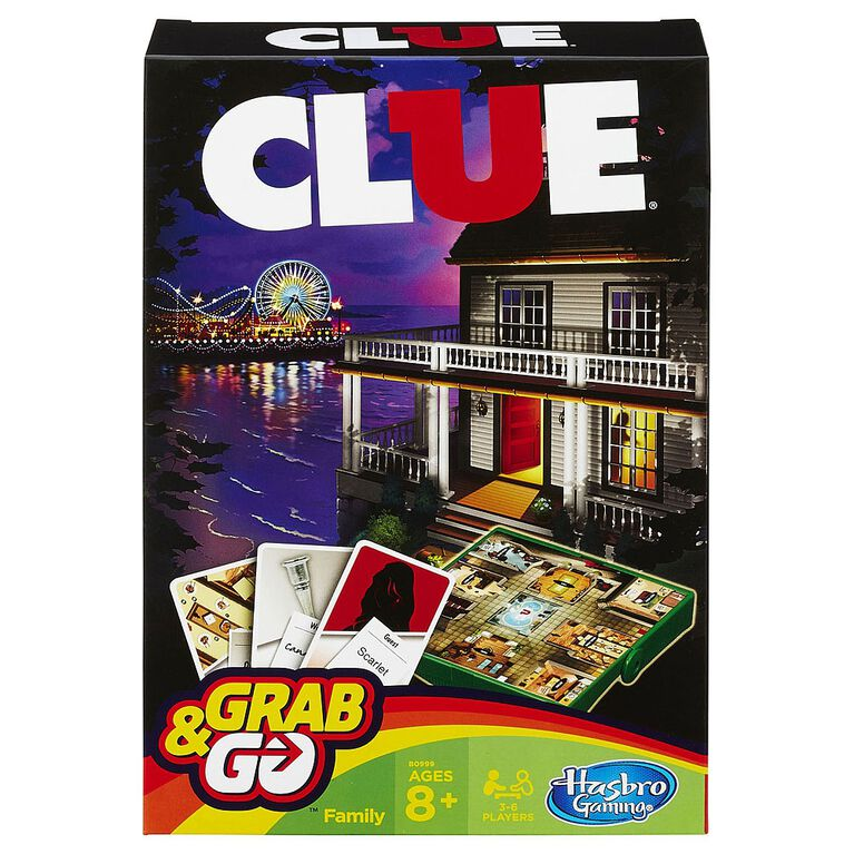 Hasbro Gaming - Clue Grab & Go Game