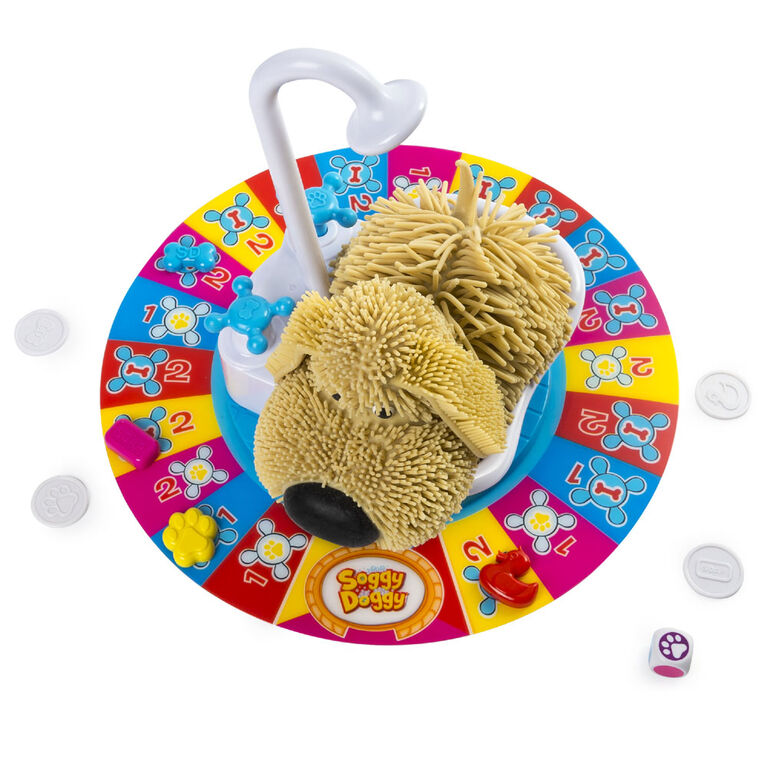 Soggy Doggy Board Game for Kids with Interactive Dog Toy