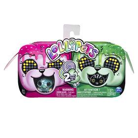 Lollipets, Pack de 2, Petits animaux interactifs à collectionner avec friandise (les styles peuvent varier)
