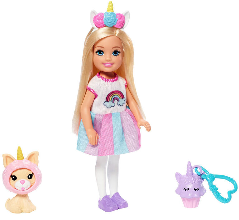 Barbie Club Chelsea Dress-Up Doll in Unicorn Costume, 6-inch